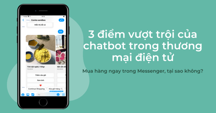 3 điểm vượt trội của chatbot trong thương mại điện tử ecommerce