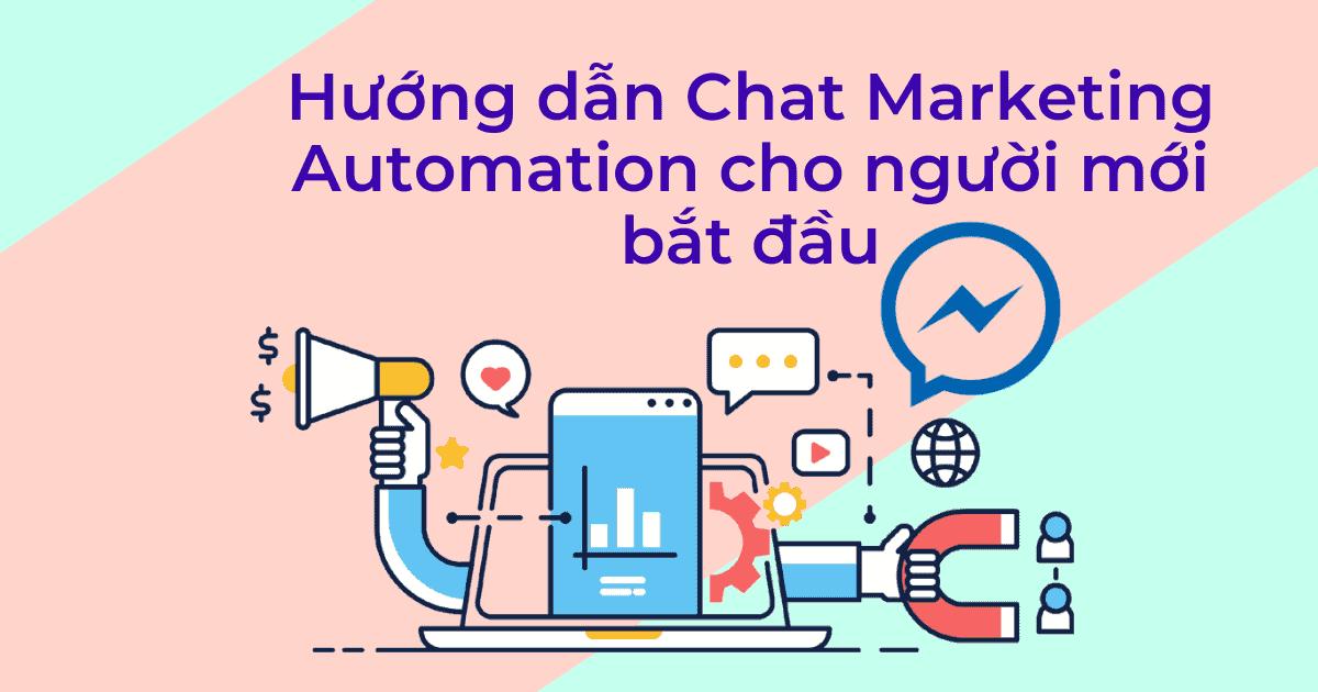 Cover hướng dẫn chat marketing automation cho ngời mới bắt đầu